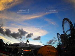 空の雲のクローズアップの写真・画像素材[3723047]