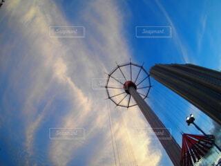 空の雲のクローズアップの写真・画像素材[3723053]