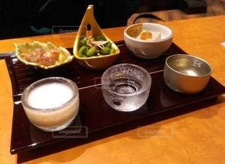 日本酒とつまみの写真・画像素材[3521246]