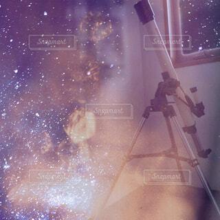 天体望遠鏡です。の写真・画像素材[3671405]