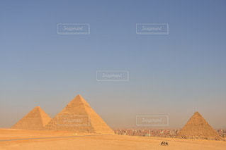 三大ピラミッドの写真・画像素材[3589466]