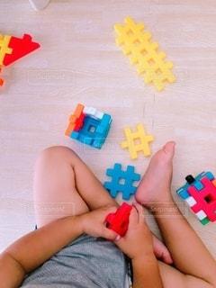 ブロック遊びの写真・画像素材[3596179]