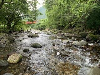 岩場の川の写真・画像素材[3620223]