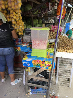 フィリピンのジューススタンドの写真・画像素材[1522577]
