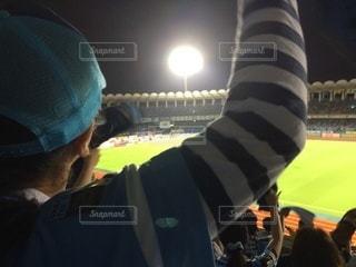 サッカー観戦の写真・画像素材[3587267]
