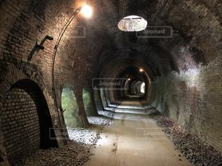 碓氷峠 廃線跡 トンネル内の写真・画像素材[3583221]
