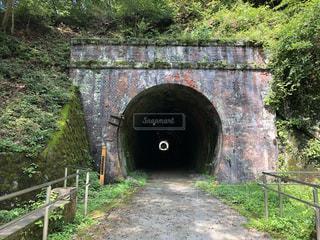 碓氷峠 廃線跡の連続トンネルの写真・画像素材[3583275]