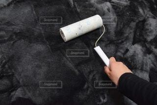 カーペットを掃除する手の写真・画像素材[4201317]