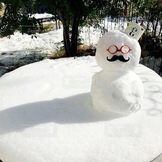 雪の中に立っている男の人の写真・画像素材[972730]