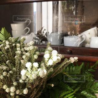 テーブルの上の花の花瓶の写真・画像素材[977703]