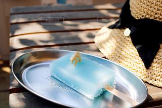 皿の上のケーキをクローズアップするの写真・画像素材[2852396]