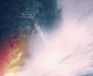 幻想的な空の写真・画像素材[3709535]