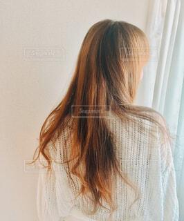 後ろ姿の私の写真・画像素材[4461903]