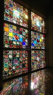 薔薇ステンドグラスの写真・画像素材[4041494]
