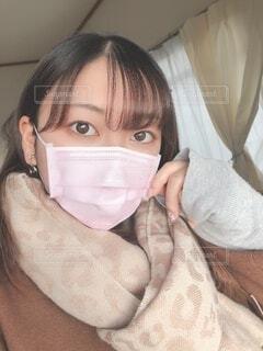 マスクをしている女性の写真・画像素材[4020373]