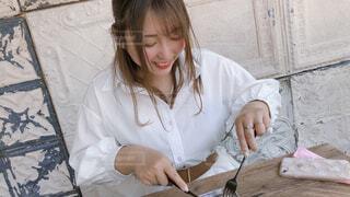 カフェ女子の写真・画像素材[4396197]
