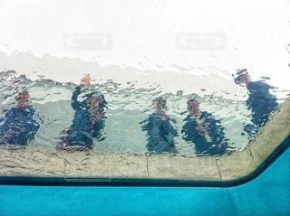 まるで水中から写真を撮ったような不思議な世界の写真・画像素材[3638666]