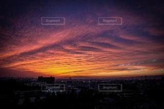 雲の形が印象的な夕焼けでしたの写真・画像素材[3606351]