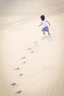 鳥取砂丘にての写真・画像素材[3619095]