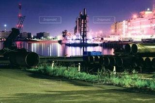 海沿いの倉庫街の写真・画像素材[3602964]
