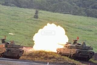 陸上自衛隊戦車の写真・画像素材[3629577]