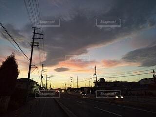 沈む夕日の写真・画像素材[3648164]