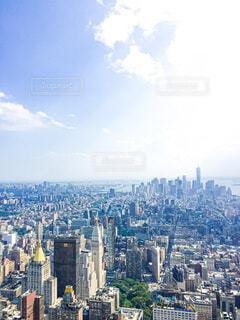 マンハッタンの眺めの写真・画像素材[3654866]