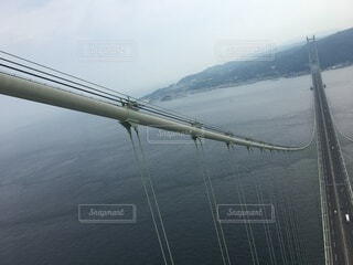 明石大橋 てっぺんの写真・画像素材[3618024]