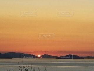 海と夕日の写真・画像素材[3639977]