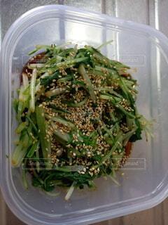 水菜お浸しの写真・画像素材[3789312]