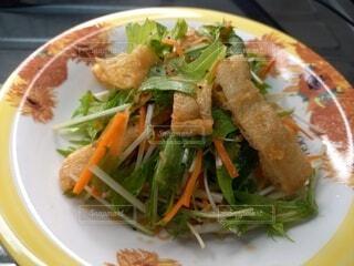 水菜サラダの写真・画像素材[4723724]