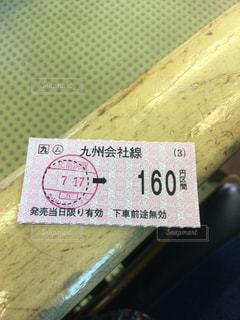 JR九州の切符の写真・画像素材[614061]