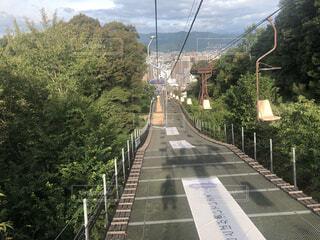 松山のロープウェイの写真・画像素材[3627684]