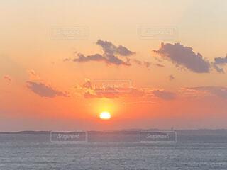蒲郡に沈む夕日の写真・画像素材[3627712]