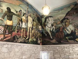 メキシコの壁画の写真・画像素材[3637874]