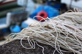 漁船の網の写真・画像素材[3645136]