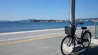 青空の自転車の写真・画像素材[3649692]