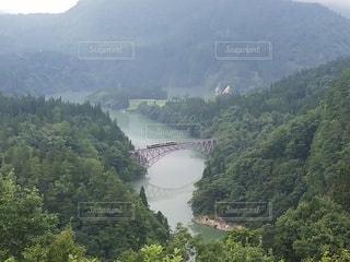 只見線 第一只見川橋梁の写真・画像素材[3639858]