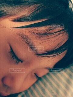 寝顔。愛おしい。の写真・画像素材[3654490]
