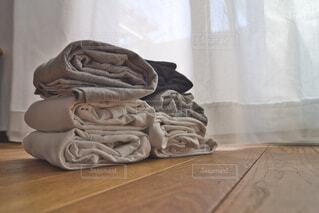 晴れた日の洗濯物の写真・画像素材[3660710]