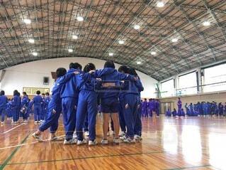 体育祭で円陣をの写真・画像素材[3667511]