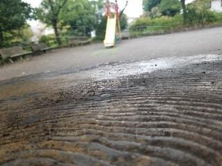 雨前の公園の写真・画像素材[3683662]