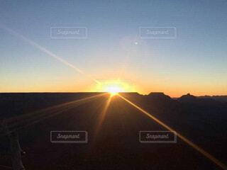 グランドキャニオンの日の出の写真・画像素材[3664032]