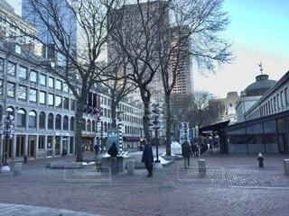 冬のボストンショッピング街の写真・画像素材[3667045]