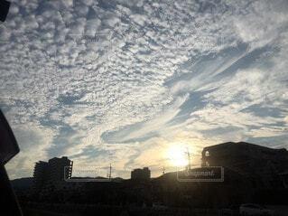 日没時の都市の眺めの写真・画像素材[3677202]