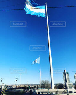 アルゼンチン国旗の写真・画像素材[3671477]