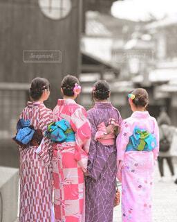 和装女子旅の写真・画像素材[3850243]