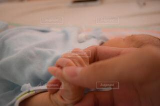 父と息子 初めての握手の写真・画像素材[3673304]