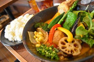 たっぷり野菜のスープカレーの写真・画像素材[3673305]