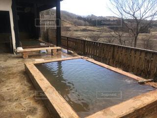 露天風呂の写真・画像素材[3674410]